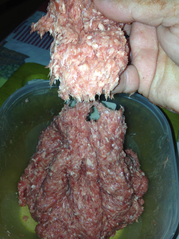 ćevap meso